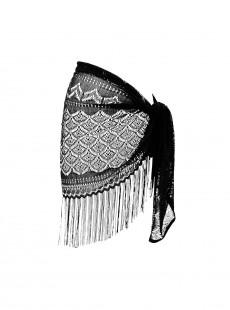 Pareo Sarong 'Crochet' Noir