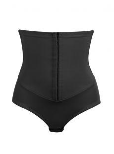 Culotte haute gainante noire avec ceinture agrafes intégrée - Inches Off